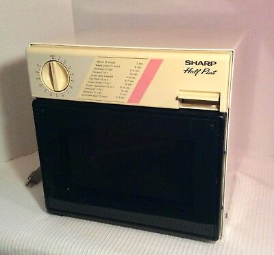 Sharp Compact Microwave Oven Half Pint 1986 R-4060W for Dorm Camper RV Boat EUC