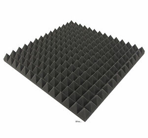 12 Stk.  Akustik Dämmung, Akustik Pyramiden 5 cm Schaumstoff, Tonstudio