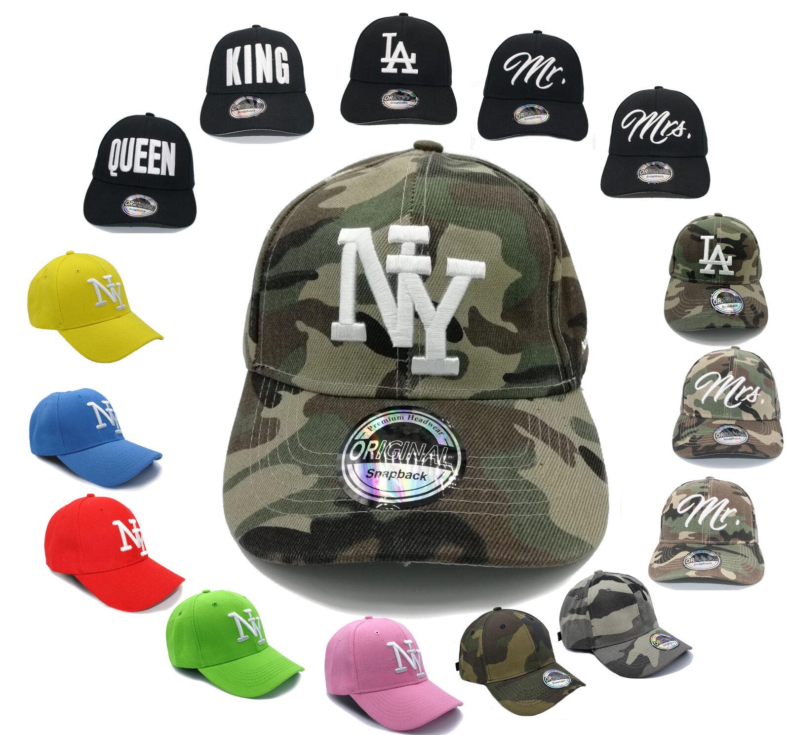Unisex Baseball Cap NY Mütze New York Basecap Hut Herren Damen gebogener Schirm