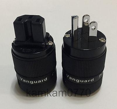 Vanguard For Audio Rhodium Plated IEC connector + US plug, C-120R P-120R
