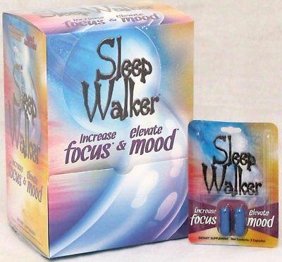 Sleep Walker Capsules Focus   Mood Optimizer Bx 24 2 Ct 48 Pills Sleepwalker