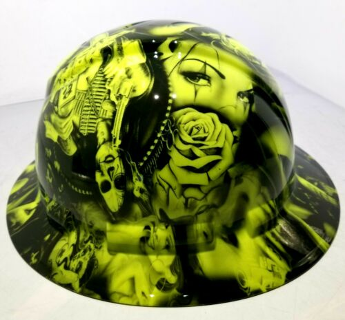 Hard Hat FULL BRIM custom hydro dipped , OSHA approved NO LOVE ALL HUSTLE NEW 2