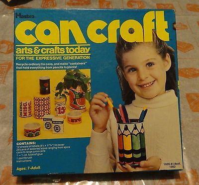 """1977 Hasbro """"Can Craft"""" arts & crafts today - activity project kit"""