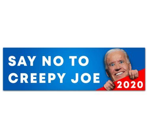 "Creepy Joe Biden Bumper Sticker 2020 9"" x 3"" (Trump 2020)"