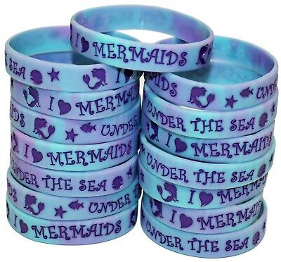 Mermaid Party Favors - 15 Pack Wristbands for Mermaid and Under the Sea Parties!