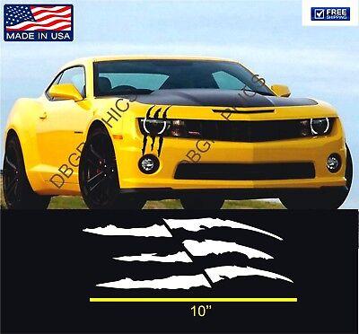 1x Die-Cut Monster Claws Scratch Headlight Decal Vinyl Sticker Halloween Decor](Halloween Car Decorations Truck)