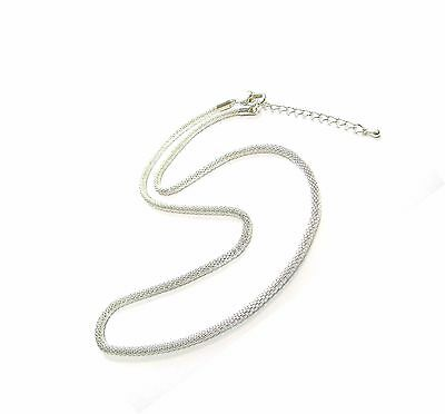 Chain Necklace Woman Mesh Chain Clasp Finish 19