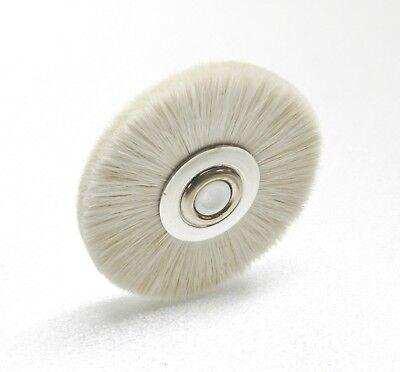 "2"" Soft Bristle Wheel Brush Metal Hub w/ Nylon Center Jewelry Cleaning Polishing"