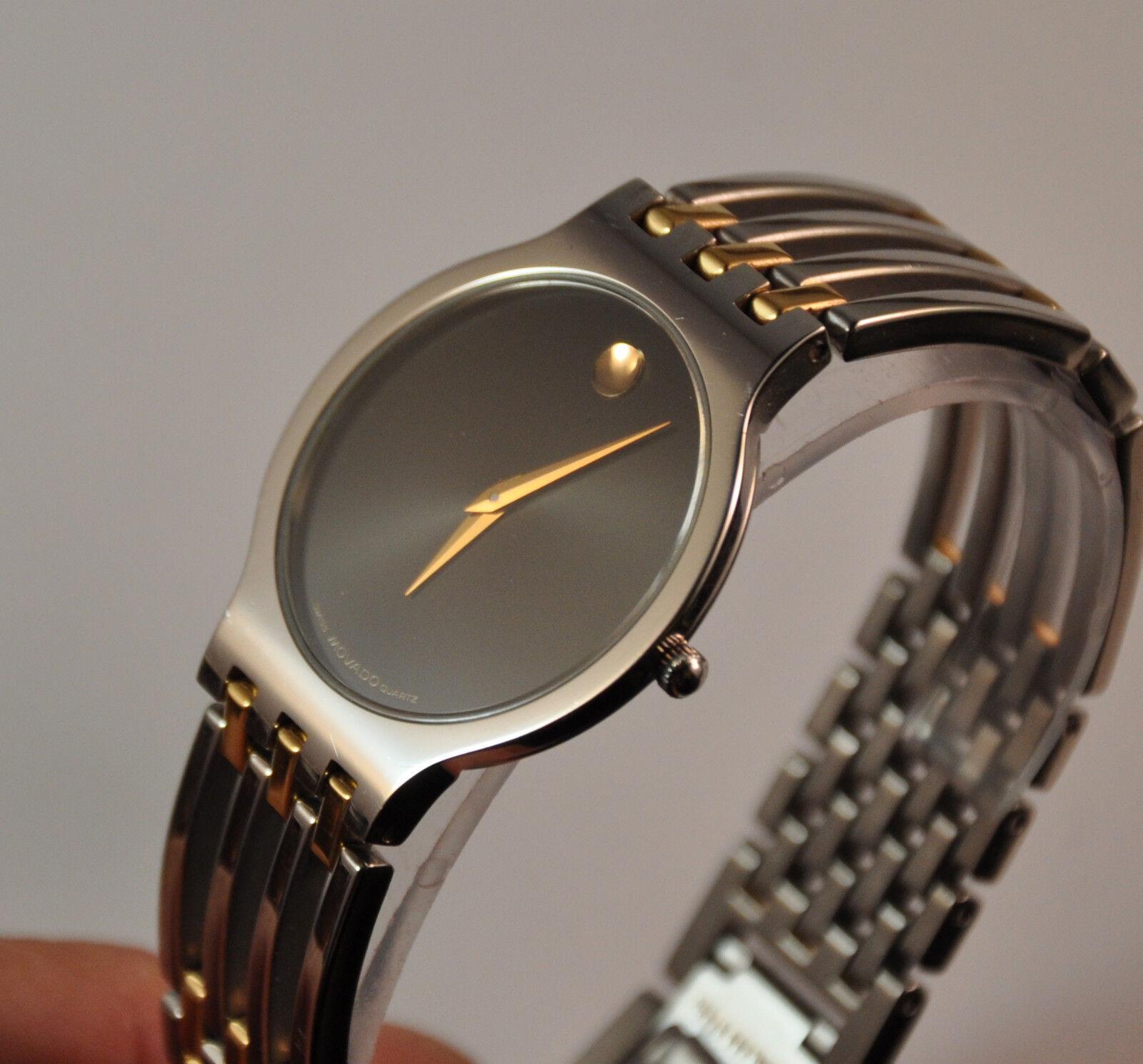 Details About New Movado Esperanza Mens Two Tone Swiss Watch Model