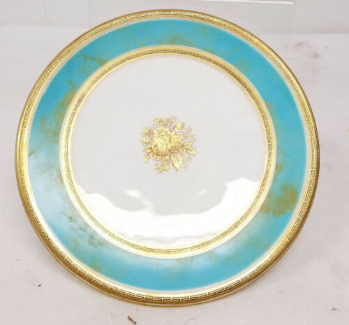 Antique European English French Old Paris Style Porcelain Compote Dessert Plate
