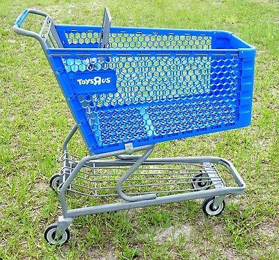 Toys R Us Blue Plastic Retail Shopping Cart Very Rare Geoffrey Giraffe