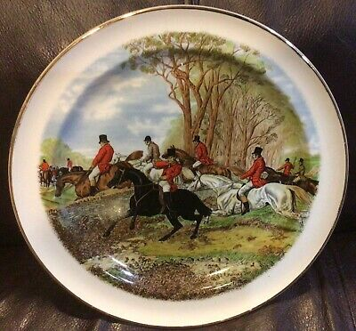 Fox Hunt Hunting Plate Herring Woods And Sons 2 - $28.99