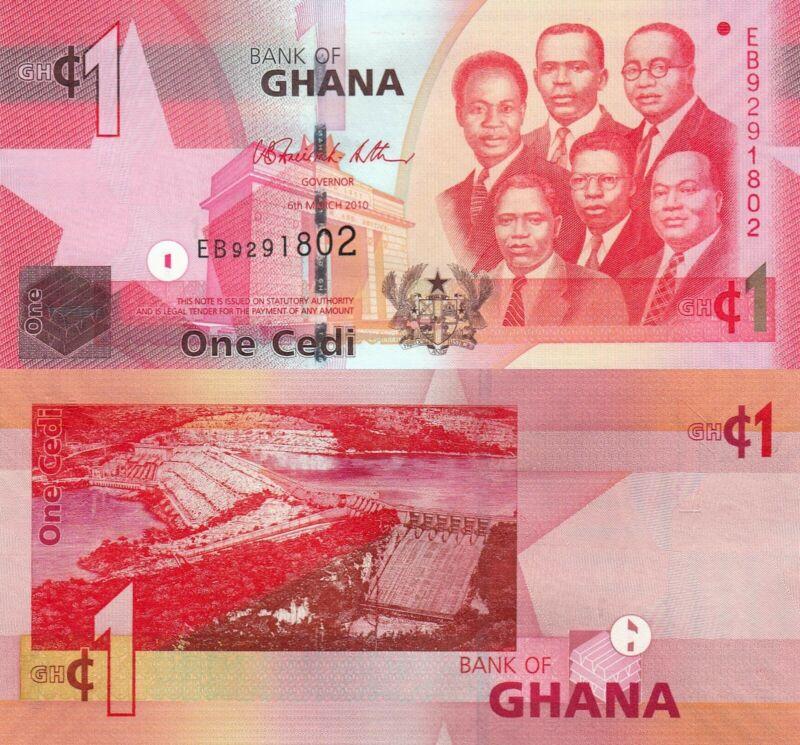 Ghana 1 Cedi (06.3.2010) - Big Six/Dam Spillway/p37c UNC