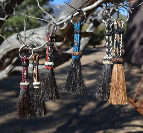 Beautiful 100% Horse Hair Key Ring Chain Short Various Colors *** Great Gift ***