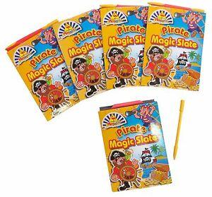 Bulk Lot of 20 PIRATE Magic Slate Kids Mini Writing Novelty Toy Party Favors NEW