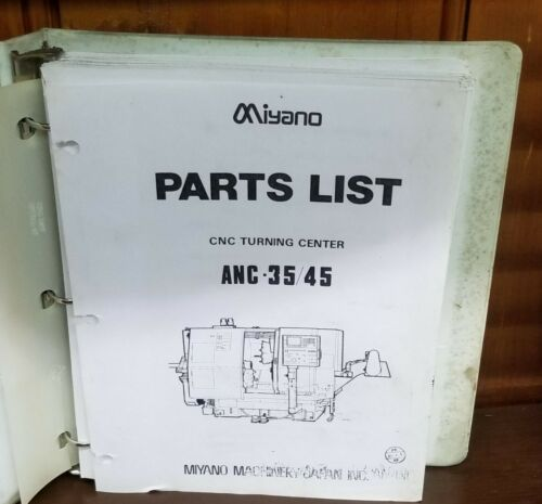 MIYANO ANC-35 PARTS LIST MANUAL