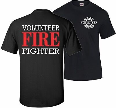 Firefighter Volunteer Fire Rescue Thin Red Line Department Tshirt T Shirt