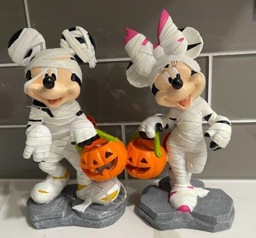 Disney Mickey Minnie Mouse  Mummy LED Light-Up Halloween Garden Statue New 2021