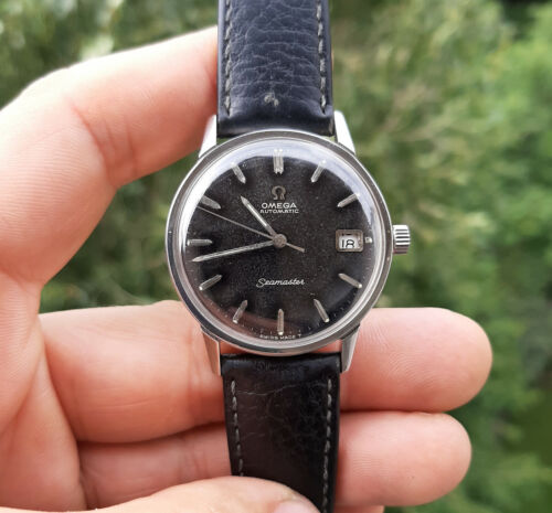 VINTAGE 1961 OMEGA SEAMASTER BLACK DIAL DATE CAL:562 AUTOMATIC MAN