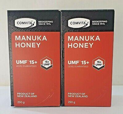 Comvita Manuka Honey UMF 15+ (250gm x 2) - BB 26/02/2022 FREE POST Save $183.95.