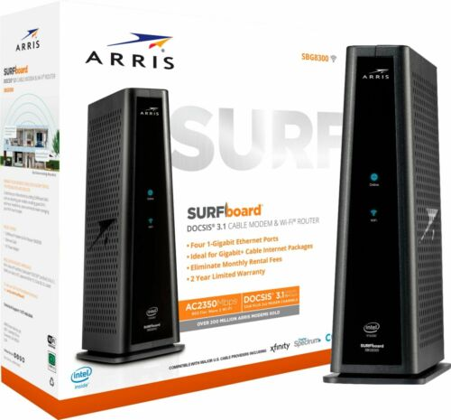 ARRIS - SURFboard DOCSIS 3.1 Cable Modem & Dual-Band Wi-Fi Router for Xfinity...