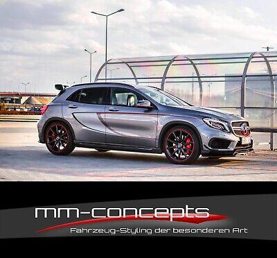 CUP Seitenschweller Ansätze für Mercedes GLA 45 AMG X156 Skirt Leisten Schweller