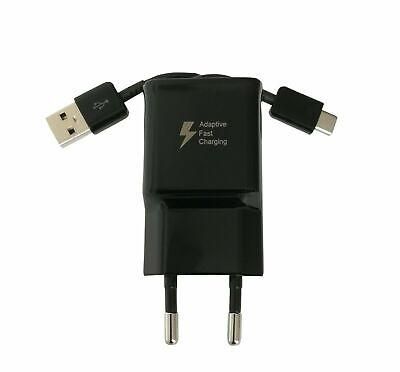 PowerRay Quick Charger PR-TA20EBE, 2A Schnelllader mit USB Typ C Kabel , Black