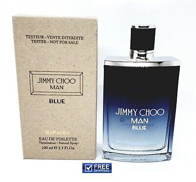 Jimmy Choo Man Blue  100 ml 3.3 oz EDT Spray Authentic tester + free (Blue Jimmy Choo)
