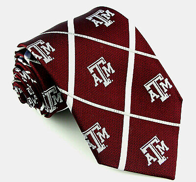 Texas A&M Aggies Men's Licensed Necktie College University Red Silk Neck Tie