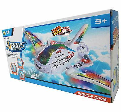 Flugzeug future Airliner 44cm LED + SOUND Elektrisches Kinder Spielzeug Batterie