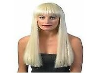LONG BLONDE FANCY DRESS WIG GREAT FOR A PARTY OR HEN DO EVEN HALLOWEEN