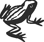 Frog Vinyl Decal Your Color Choice Sticker