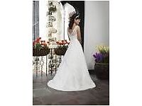 IVORY SINCERITY WEDDING DRESS 3737 UK 12\14 (US 10) A-LINE SATIN
