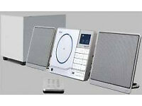 Hi-fi rds clock radio with sub woofer and separate speakers