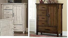 New in Boxes!!! Solid wood chests in Antique White or Rustic Oak Regular $1600 Now $920 Taxes Included
