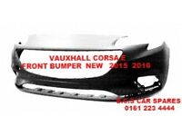 VAUXHALL CORSA E FRONT BUMPER NEW NEW INSURANCE APPROVED 2015 2016 ( READY TO PAINT )