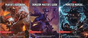 D&D 5e Books Mm, Dmg, phb, and an adventure.