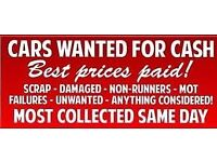 Scrap and unwanted cars motorcycles wanted