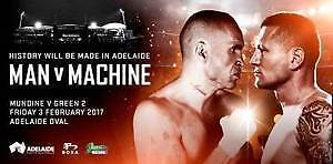 Green V Mundine - This is It - 2 unwanted tickets for sale Adelaide CBD Adelaide City Preview