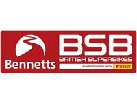 2 British Superbike WEEKEND TICKETS . VALID FOR EITHER OULTON PARK or BRANDS HATCH. .