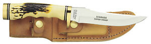 SCHRADE USA UNCLE HENRY FIXED BLADE SKINNER HUNTING KNIFE & SHEATH- 153UH