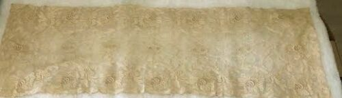 Lovely Antique/Vintage Net Lace Dresser Scarf or Runner