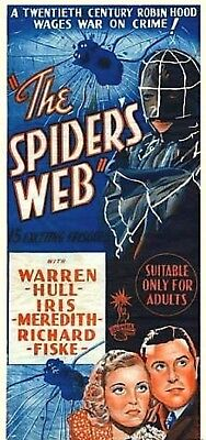 The Spider's Web vintage 1938 Columbia movie serial classic pulp character