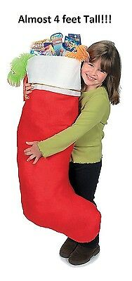 "Jumbo Giant Christmas Stocking - 16"" x 45"" - 1 pc"