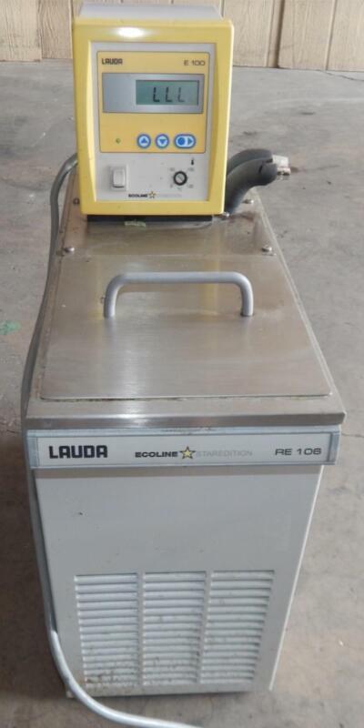Lauda RE106 Refrigerated / Heated Recirculating Water Bath w/E100 Control(#3434)