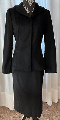 Dolce & Gabbana Women's Vtg Black Wool/Cashmere Jacket Skirt Suit Set Sz 42 US 8
