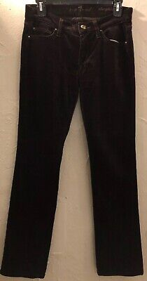 7 FOR ALL MANKIND Women's Brown Straight Leg Corduroy Pants Size 26