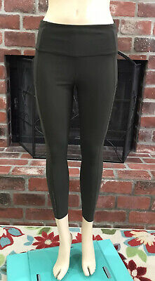 """Lululemon Olive Green Fast Free 7/8 Tight II Nulux 25"""" Size 8"""