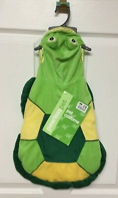 New Peerless Pet Plush Green and Yellow Turtle Dog Halloween Costume Size Medium](Turtle Pet Costume)