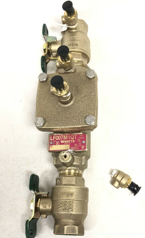 """Watts Double Check Valve Assembly 1"""" LF007M1QT New FREIGHT DAMAGE See Photos"""